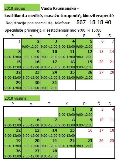 Vaida Krušnauskė 2018 01-02